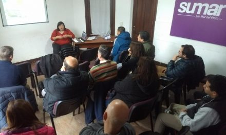 Charla del Plan Estratégico en Sumar por Mar del Plata