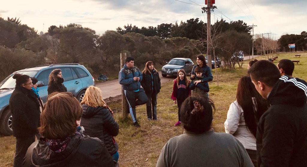 Reunión con vecinos de Quebradas de Peralta Ramos